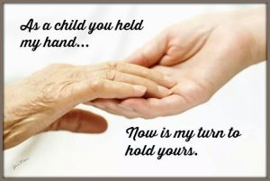 As a child you held my hand
