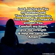 Lord I give you my burdens