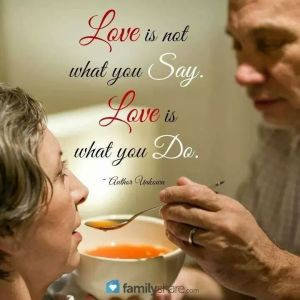 love is whqat you do
